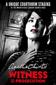 Witness for the Prosecution by Agatha Christie Tickets poster